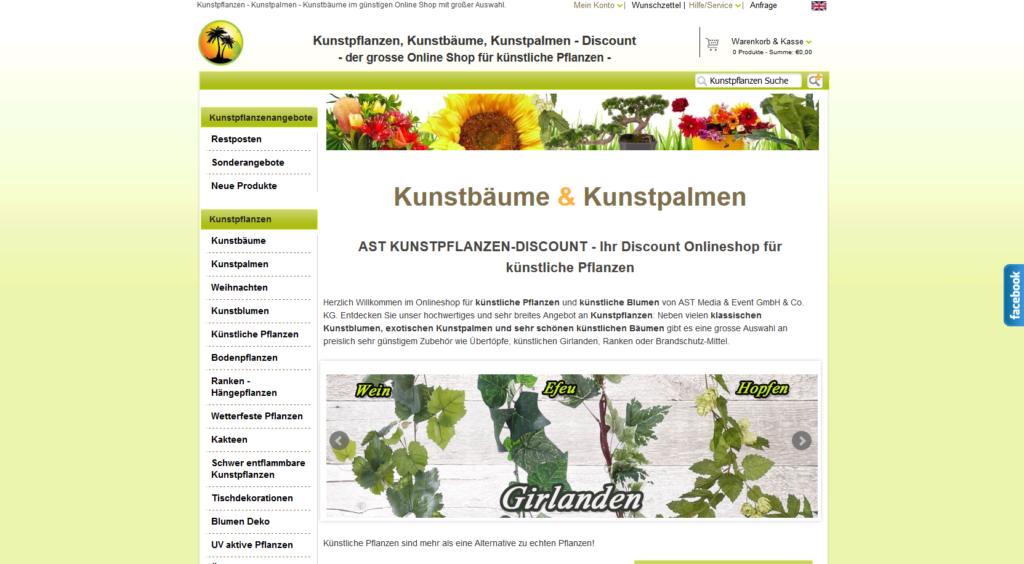 Kunstpflanzen Discount shopwelten ast mediaevent